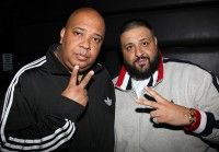 """Rev Run (L) and DJ Khaled attend BMI's """"How I Wrote That Song"""" at Key Club on February 11, 2012 in West Hollywood, California."""