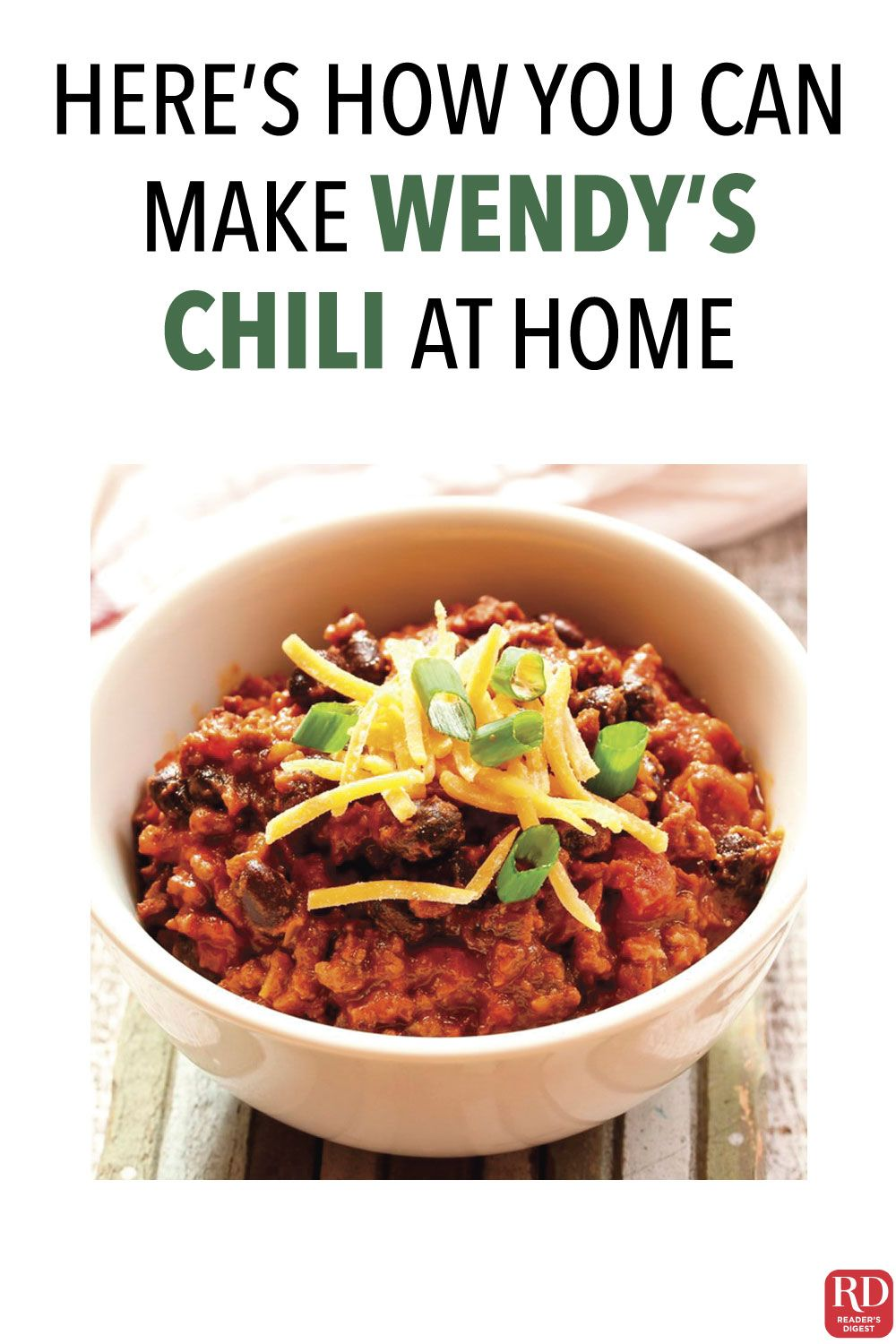 Here S How You Can Make Wendy S Chili At Home Classic Chili Recipe Chili Recipe Easy Chili