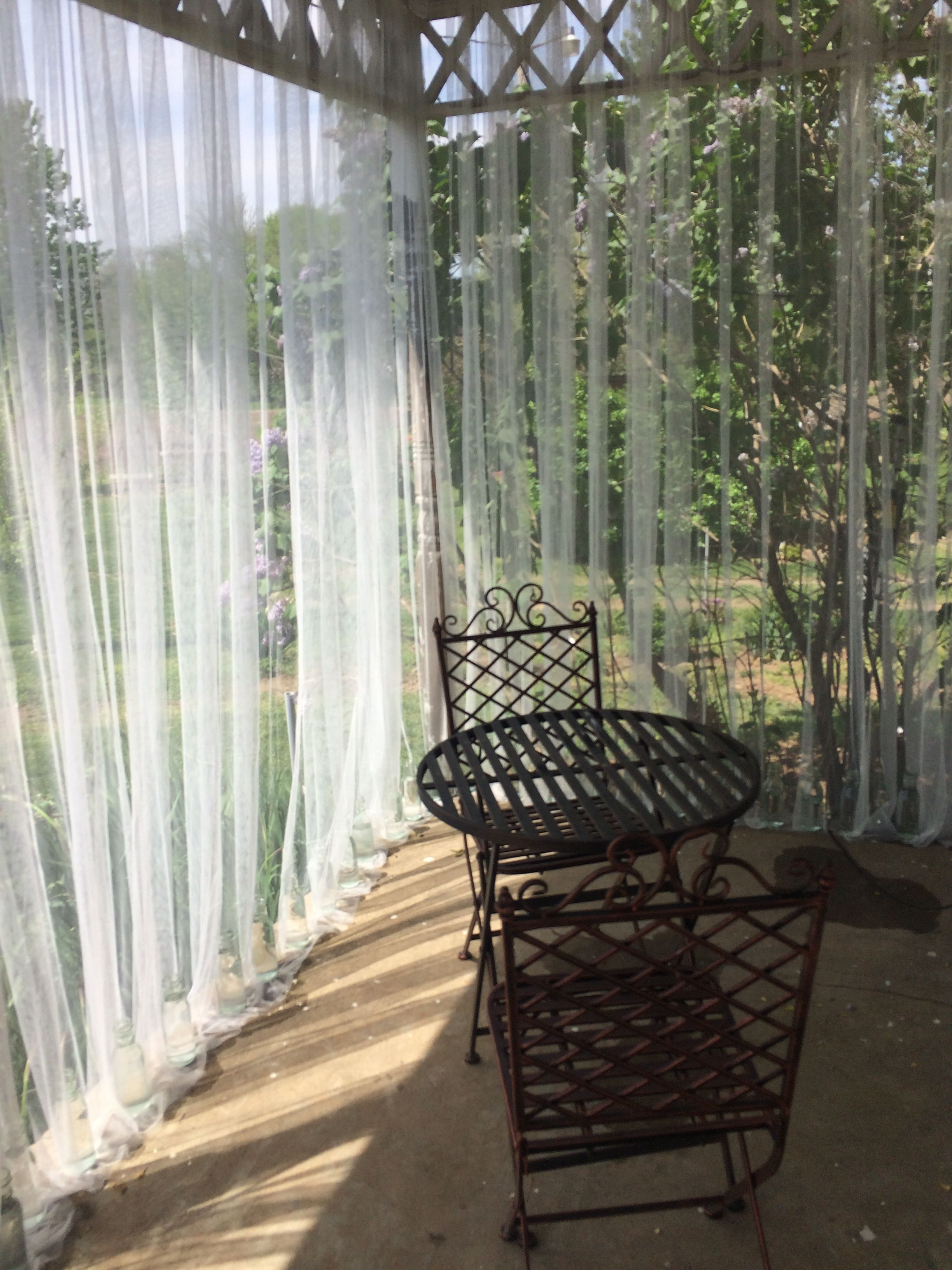 Outdoor Mesh Curtains For Bug Barrier Mosquito Netting Patio Outdoor Curtains Patio Curtains