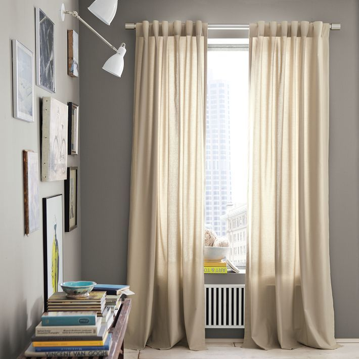 Cotton Canvas Curtain Light Flax Chelsea Gray Canvas Curtains Grey Walls