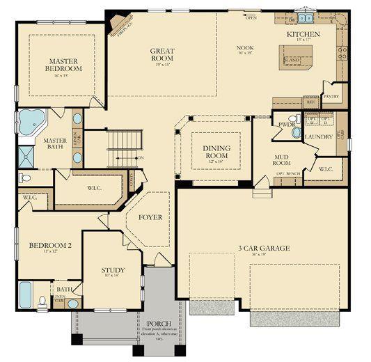 Main Level Of Our Weston Floorplan Medina Mn Dream House Plans Building Plans House New House Plans