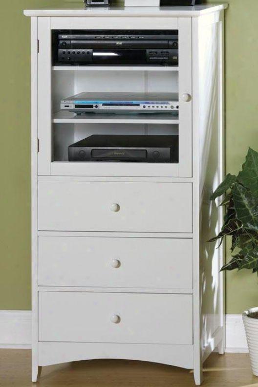 White Audio Cabinet