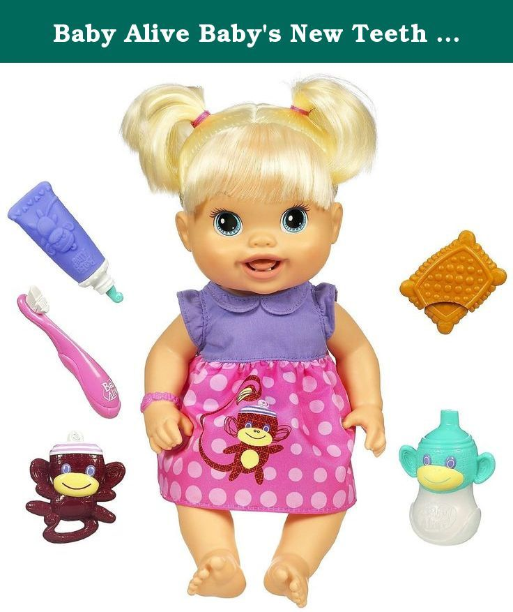 Baby Alive Baby S New Teeth Blonde Styles May Vary Your Baby Doll Is Getting Her First Set Of Teeth And She Needs Y Baby Alive Baby Alive Dolls Baby Dolls