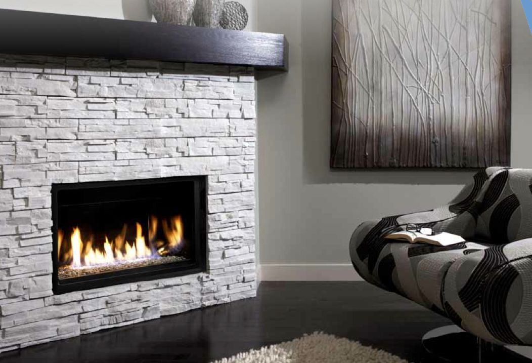 Kingsman Gas Fireplace Modern Linear Direct Vent 36