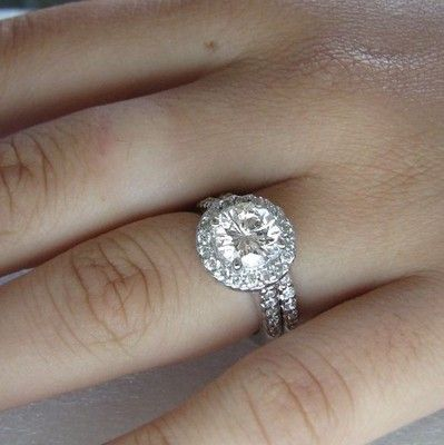 231 Ct Round Cut Man Made Diamond Engagement Ring Wedding Band 14k Solid Gold