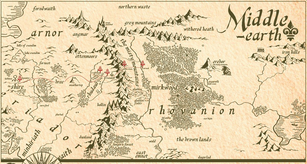 8 best Walking Map images on Pinterest  Map of middle earth