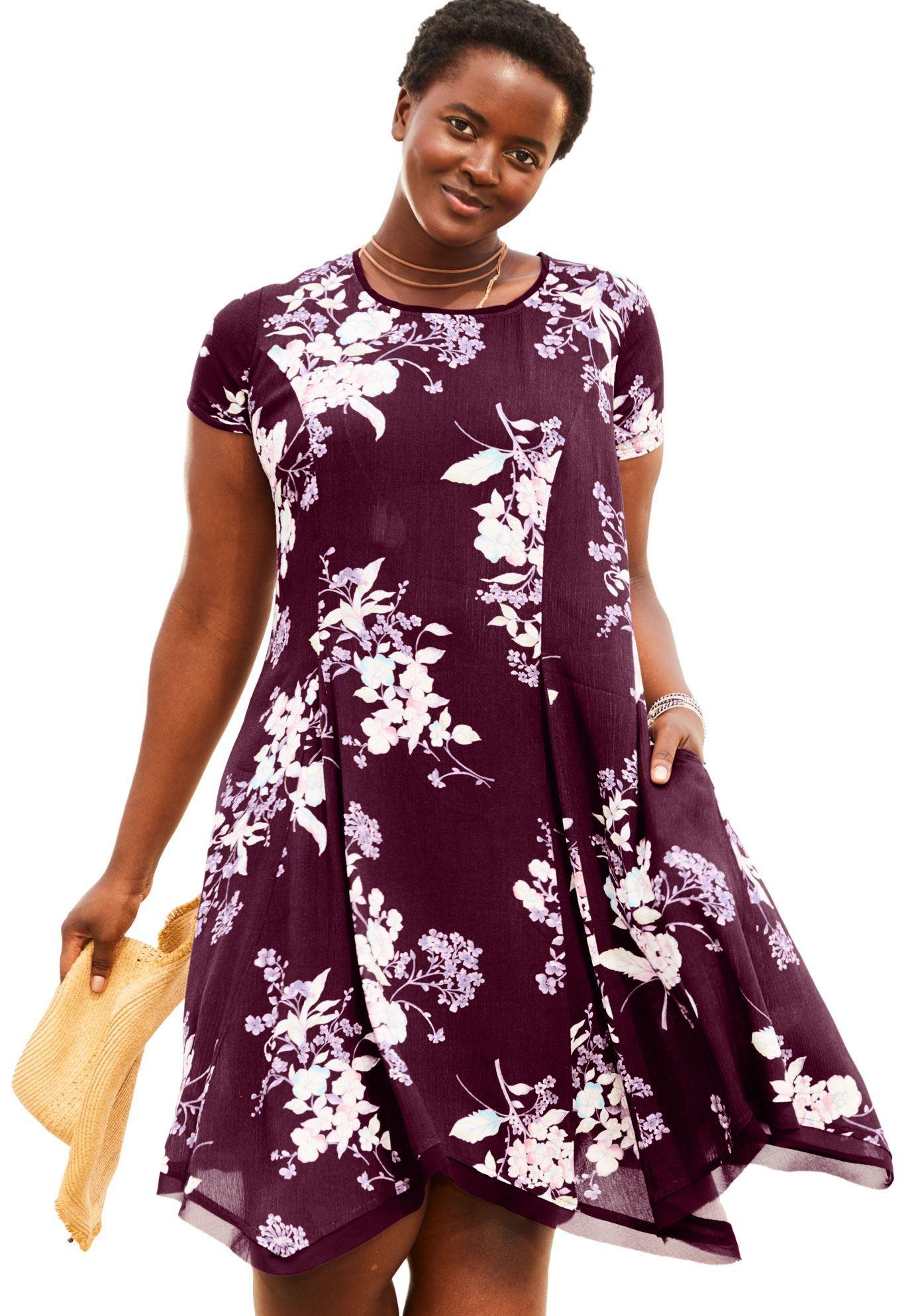 342325cb1f Short Crepe Dress - Women s Plus Size Clothing