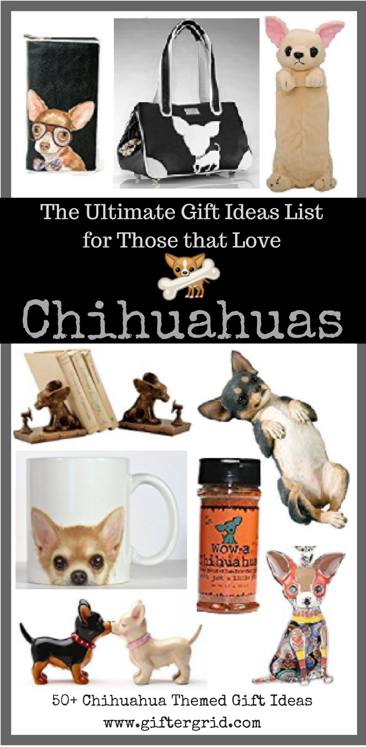 Know someone who loves Chihuahuas?! Be sure to save this gift ideas list for inspiration for the perfect gift for any occasion! These are must-have items for anybody that adores chihuahuas. This post is linked to our dog-themed gift ideas post, which has even more gift ideas including DIY and dog-themed craft ideas, charitable causes and gifts of experiences! Enjoy!