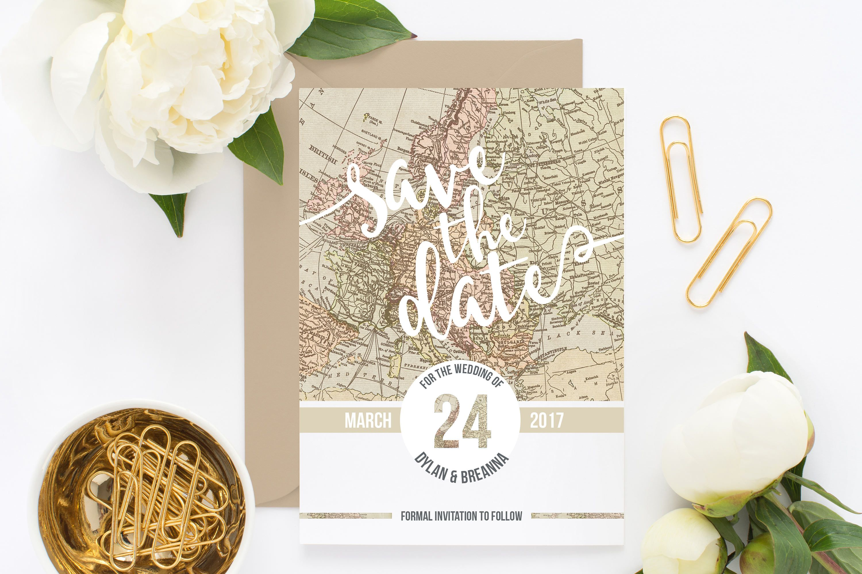 Destination Save the Date Map