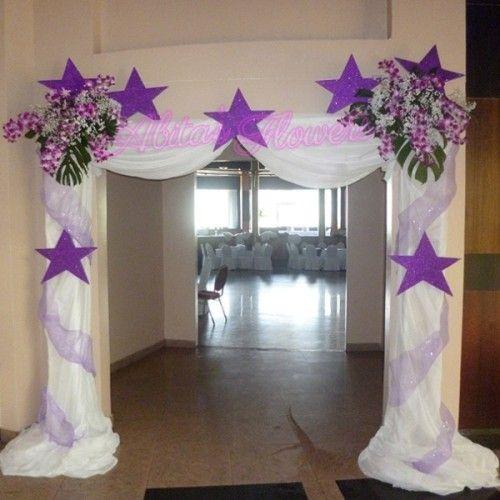 Resultado de imagen para decoracion de salones con telas for Decoracion en telas y globos para 15 anos
