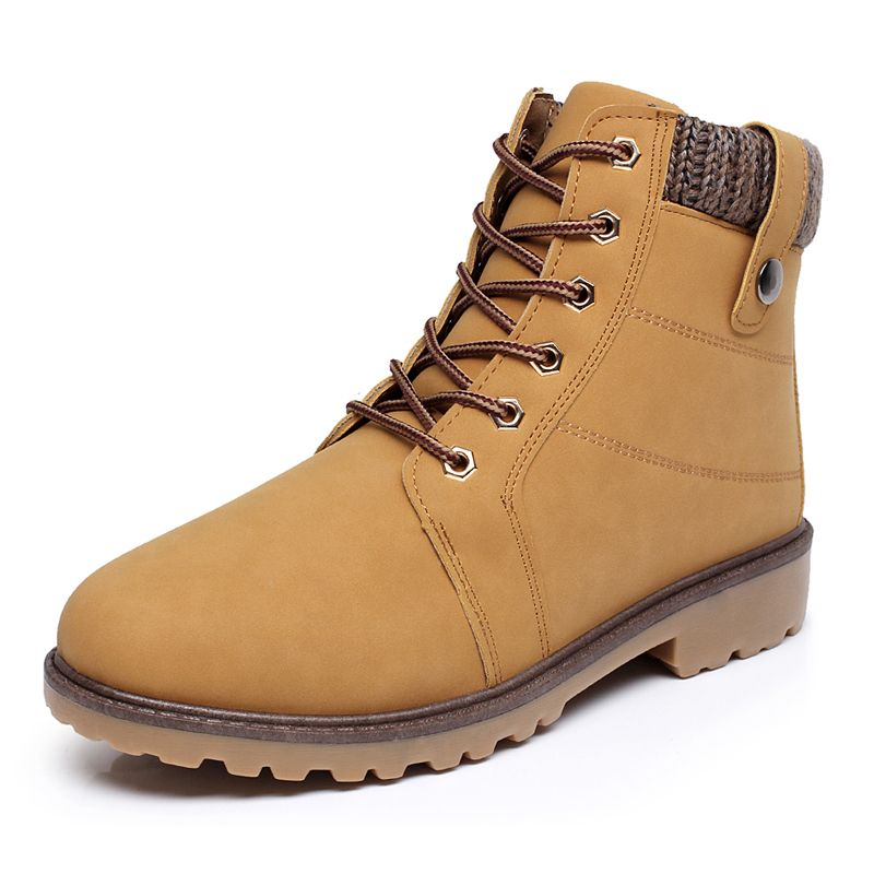 (Buy here: http://appdeal.ru/2idq ) plus size 39-46 Casual Suede Leather Mens' Boot Shoes, Waterproof Outdoor Winter Snow Warm Fur men Ankle Boots for just US $34.50