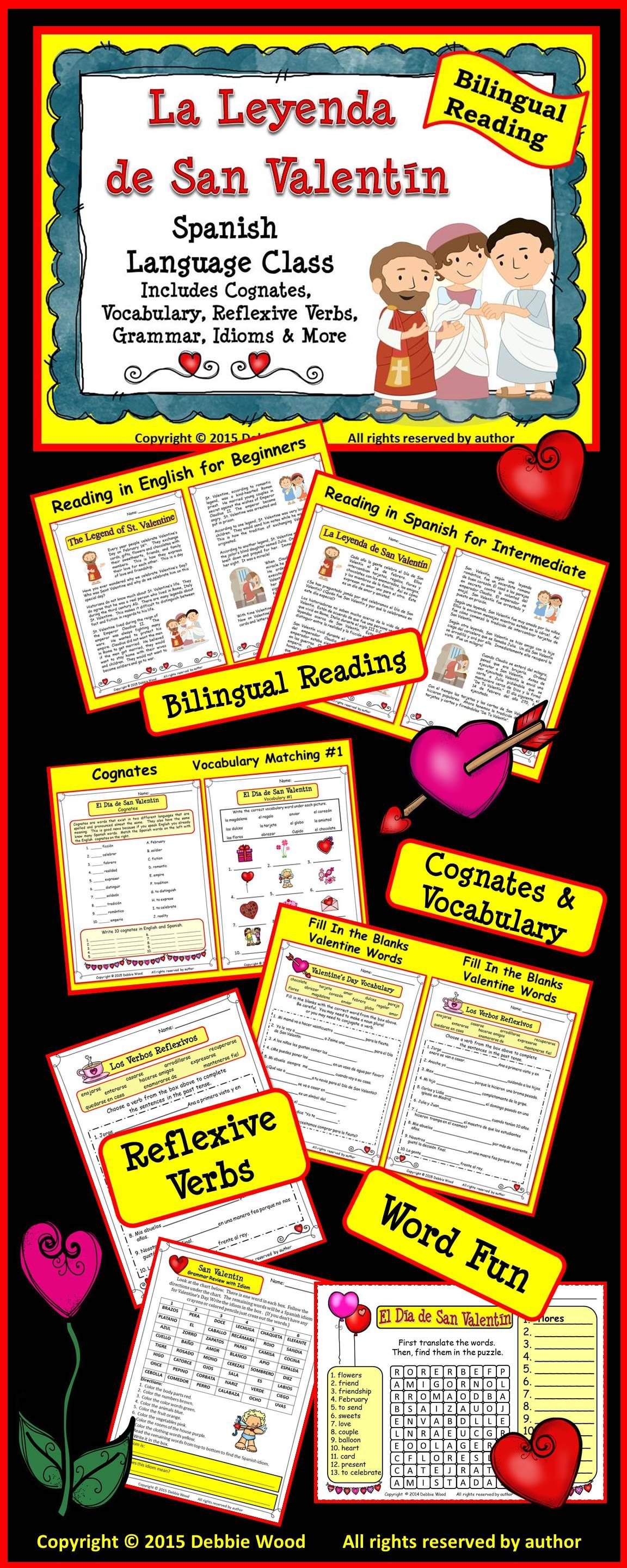 spanish valentines day activities debbie wood spanish resources teach yourself spanish. Black Bedroom Furniture Sets. Home Design Ideas