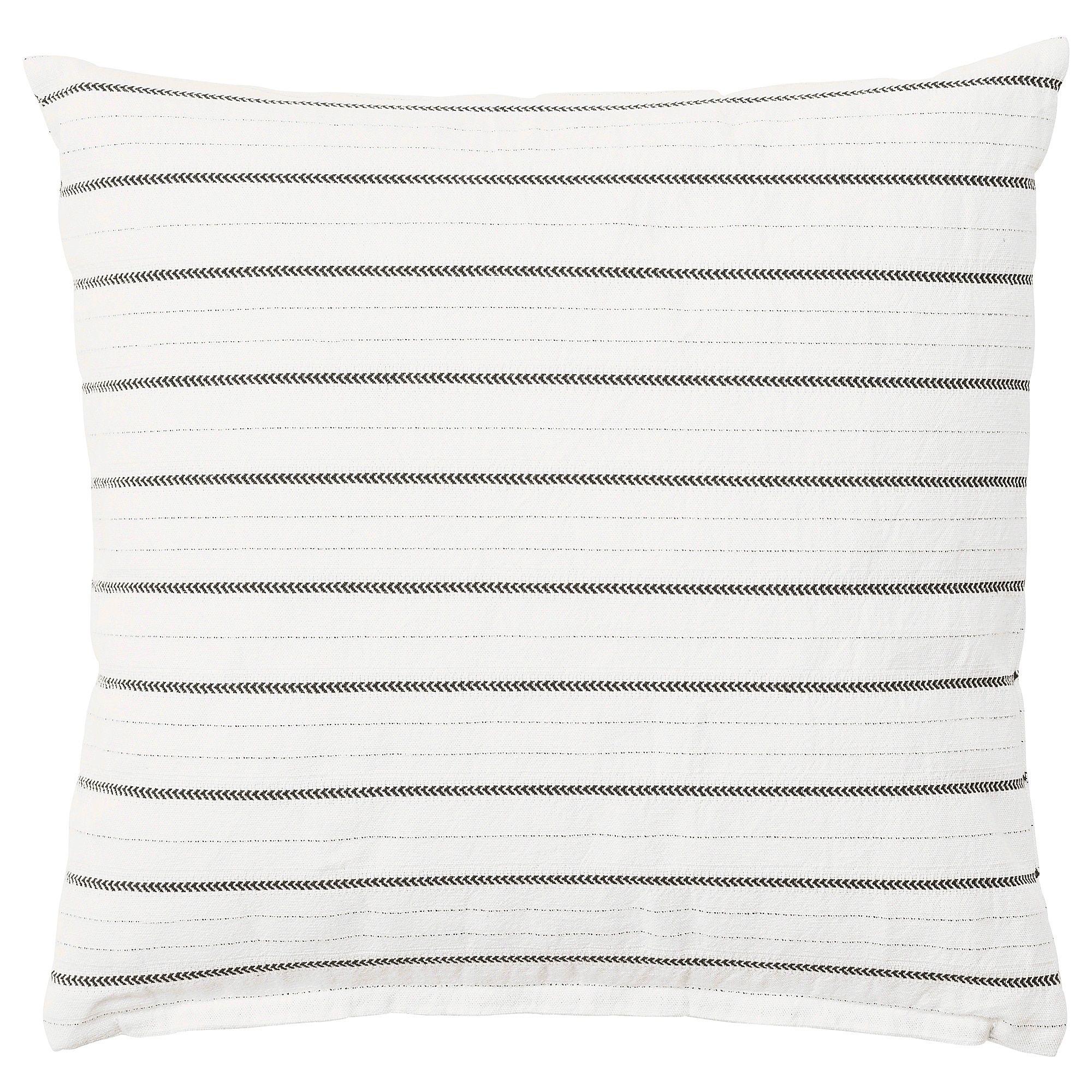 Konstanse Cushion White Dark Gray 16x16 Cushions Ikea Ikea Cushions