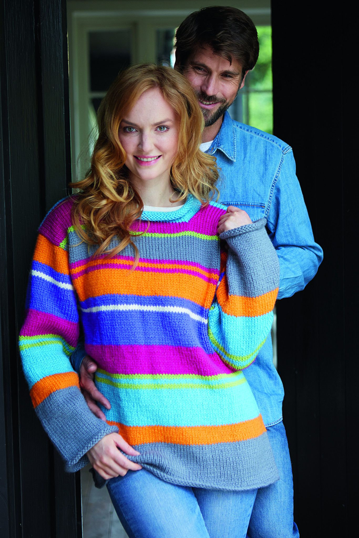 Striped Unisex Jumper Knitting Pattern (With images ...