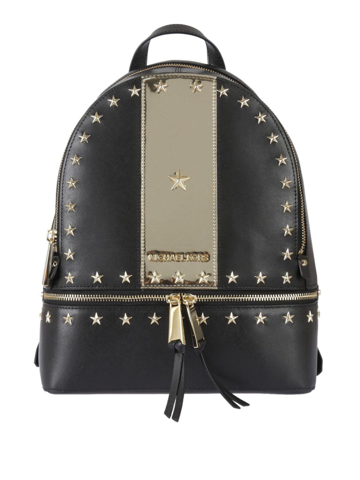 9037bd41d91e MICHAEL KORS MICHAEL MICHAEL KORS MEDIUM RHEA STAR STUD BACKPACK. # michaelkors #bags #leather #backpacks #