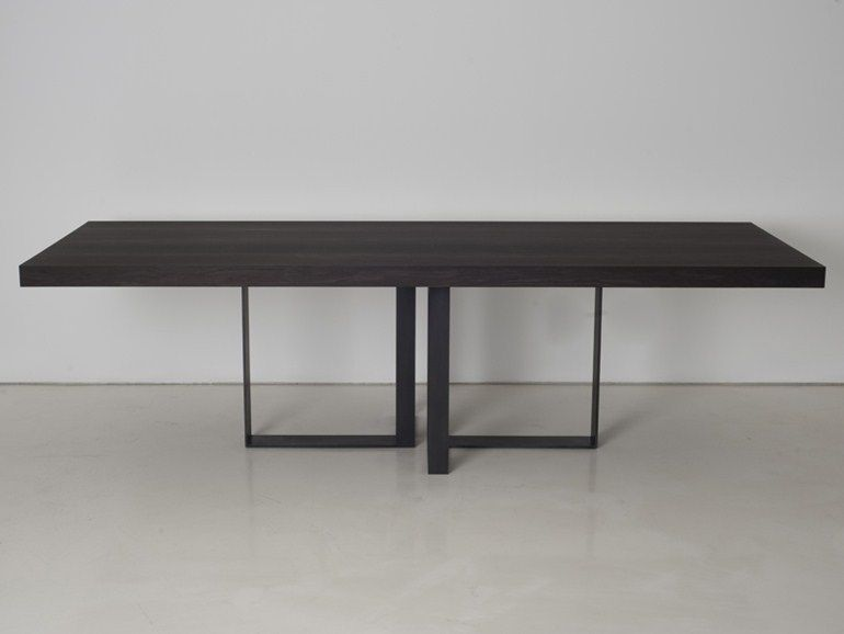 Wooden dining table st malo collection by interni edition for Interni furniture
