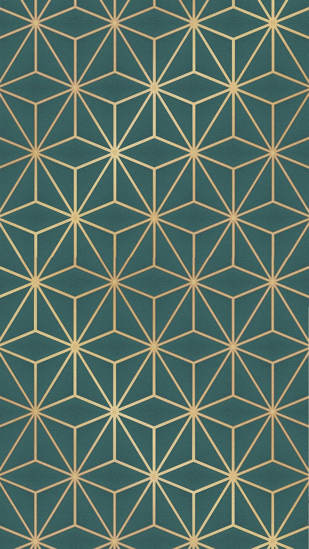 Astral Metallic Wallpaper Emerald Green, Gold Metallic