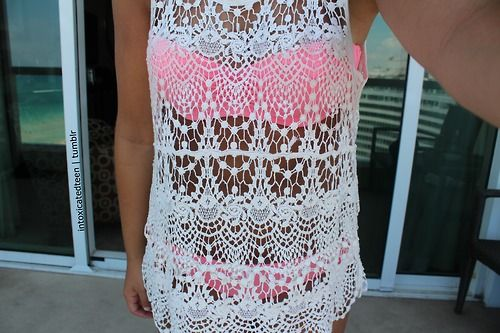 Crochet swimsuit cover up<3
