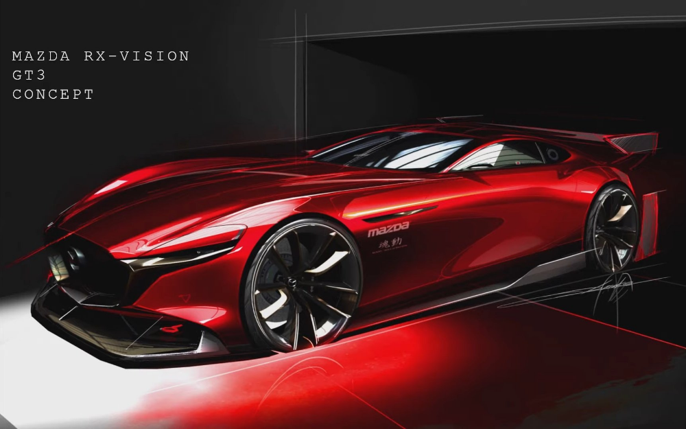 Get Ready To Race The Mazda Rx Vision Gt3 Concept On Your Big Screen Tv Next Year Carscoops Mazda Concept Cars Design