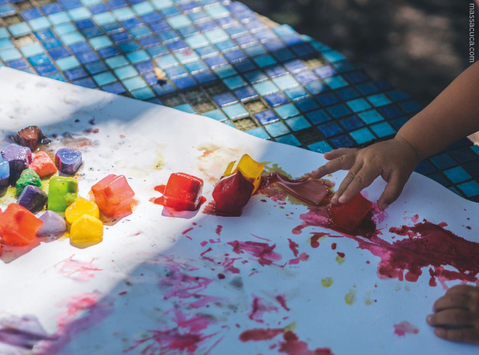 Tinta Gelo5 Com Imagens Pintar Atividades Para Bebes