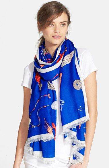 kate spade new york 'beach blanket' scarf available at #Nordstrom