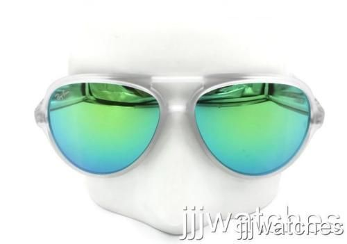 New Ray-Ban Cats 5000 Flash Green Clear Sunglasses RB4125 646/19 59-13 $160