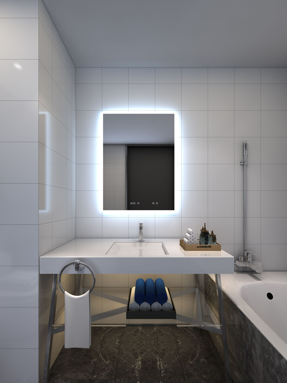 Backlit Mirror Remer Led Mirror Digital Clock Demister Pad