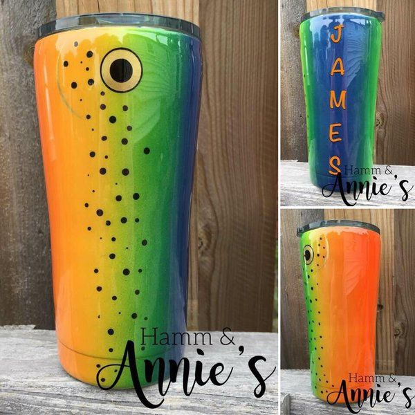 20oz Stainless Double Wall Trout Lure Tumbler Tumbler