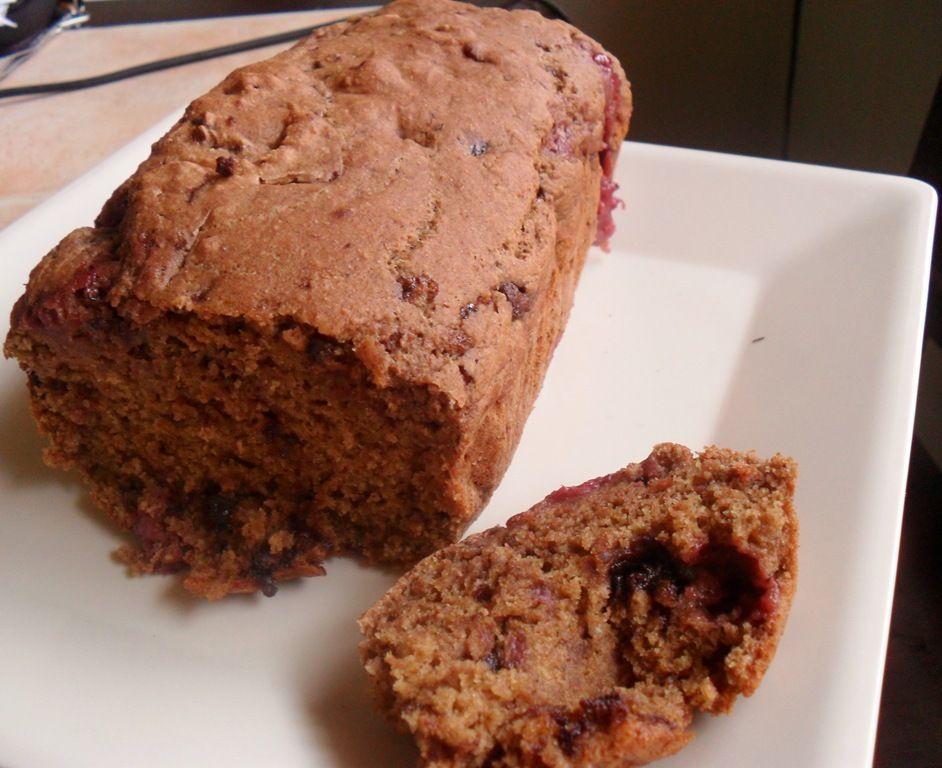 yummy strawberry chocolate bread