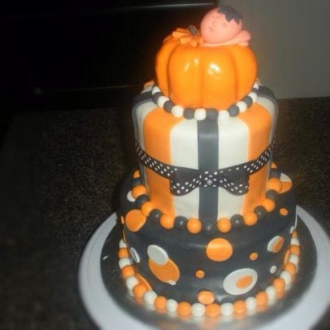 halloween baby shower cake cakes pinterest pumpkins halloween