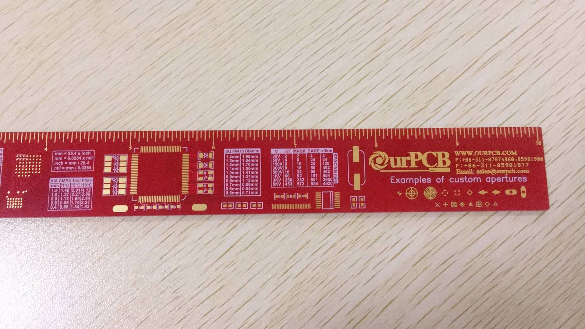 Ourpcb Company Made An Interesting Ruler Pinterest Printed Circuit Board Assembly Manufacture