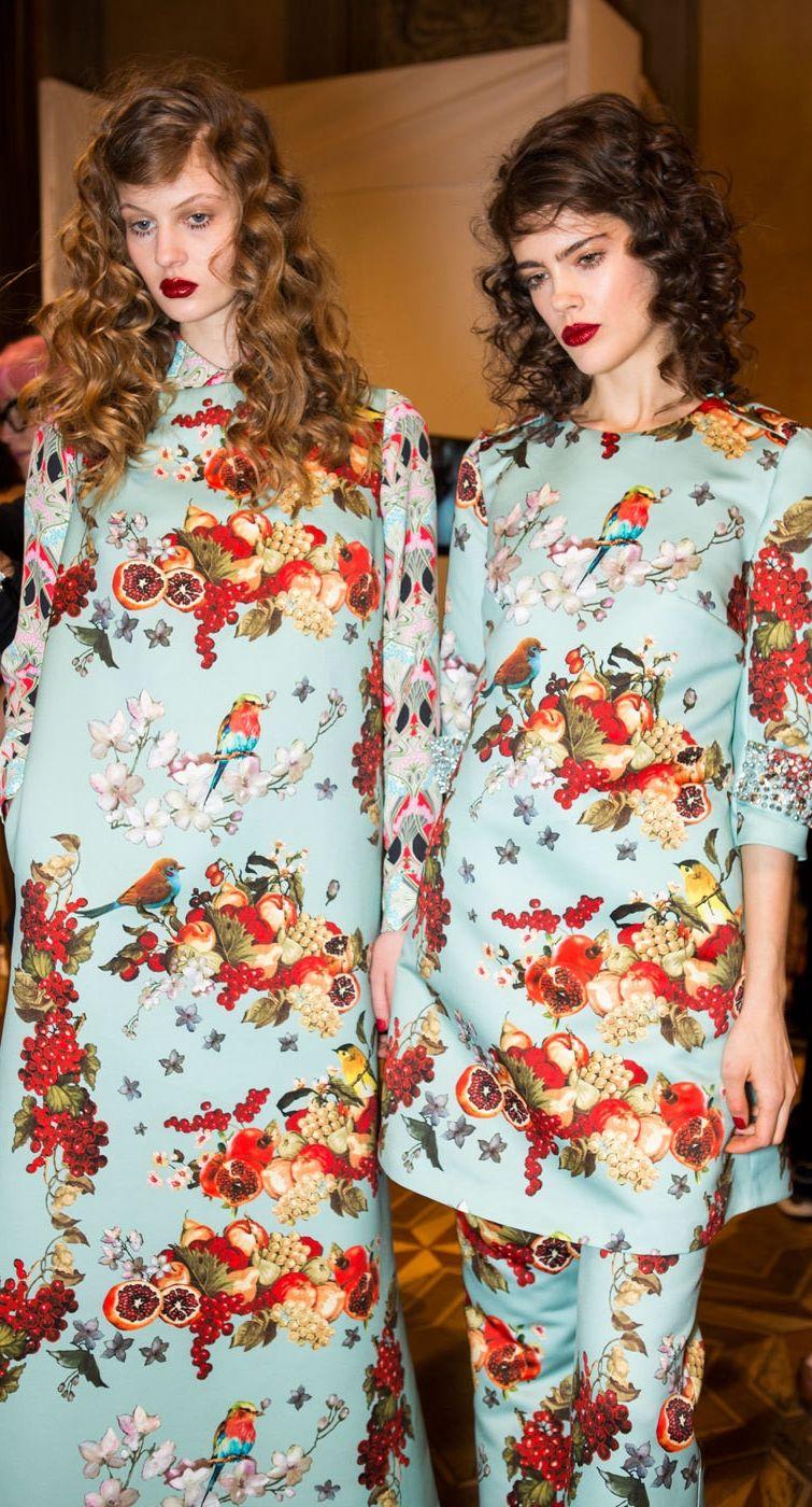 Backstage at Blugirl Fall 2015 ~ Milan Fashion Week