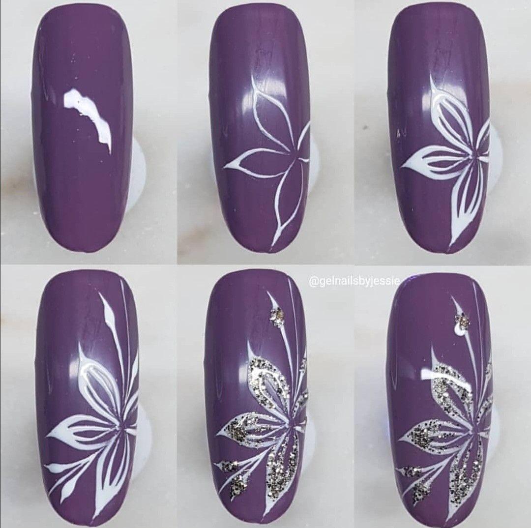 Pin Di Vanessa Santiago Su Floral Nails Decorazioni Unghie Fiori Disegni Unghie Facili Disegni Per Unghie Natalizie