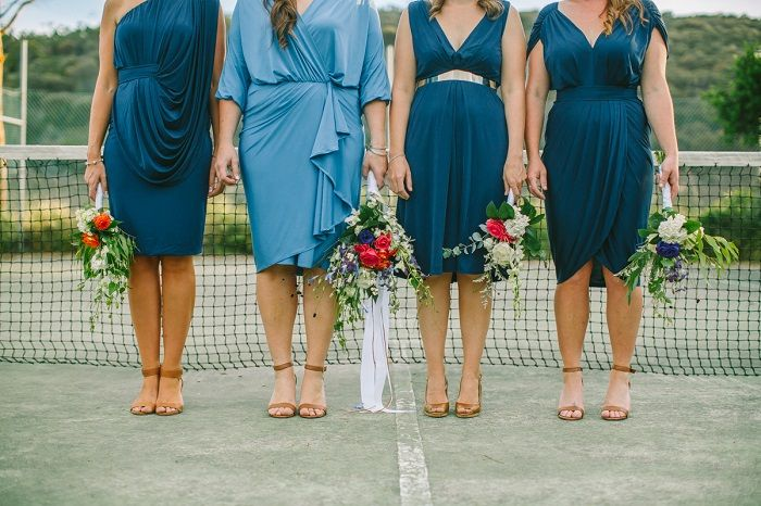 Bride and bridesmaid dress in navy blue | itakeyou.co.uk