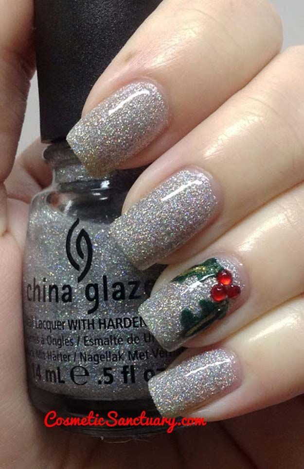 Cool diy nail art designs and patterns for christmas and holidays cool diy nail art designs and patterns for christmas and holidays diy sliver glitter nails do it yourself manicure ideas with christmas trees solutioingenieria Image collections