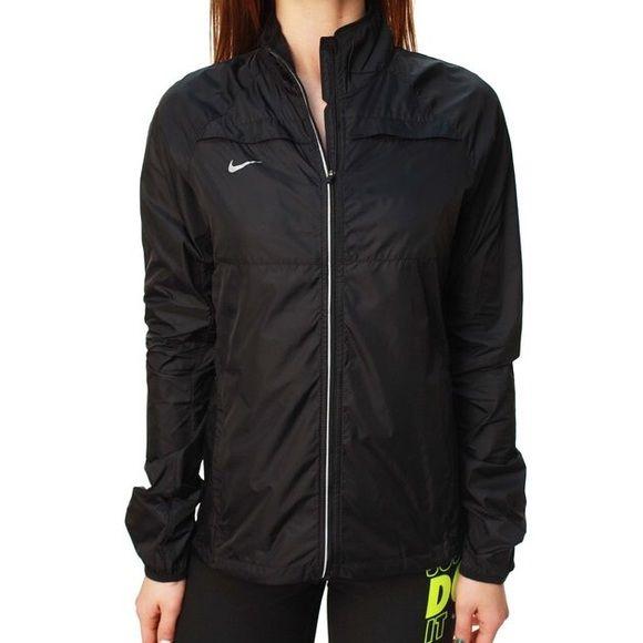 nike womens zoom running jacket black