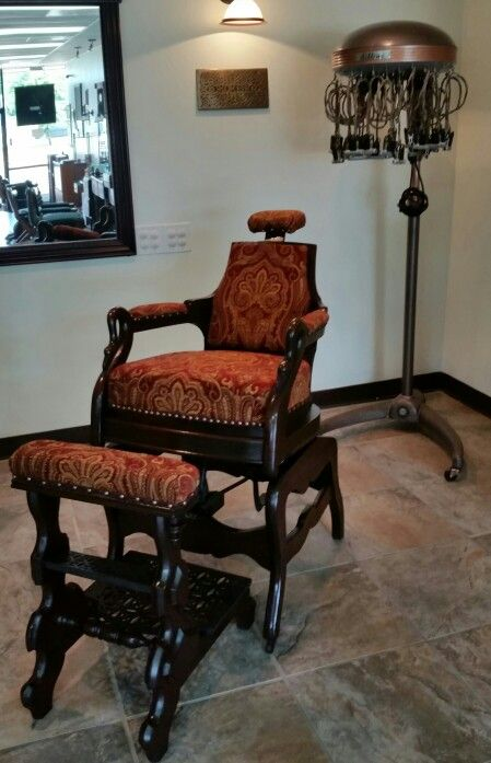 Restored Antique 1883 Archer Barber Chair At GRAND CUTS By Eric Ashworth