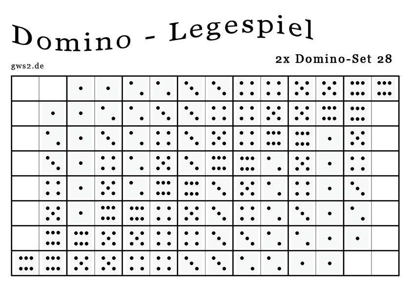Dominospiel mit Papiersteinen