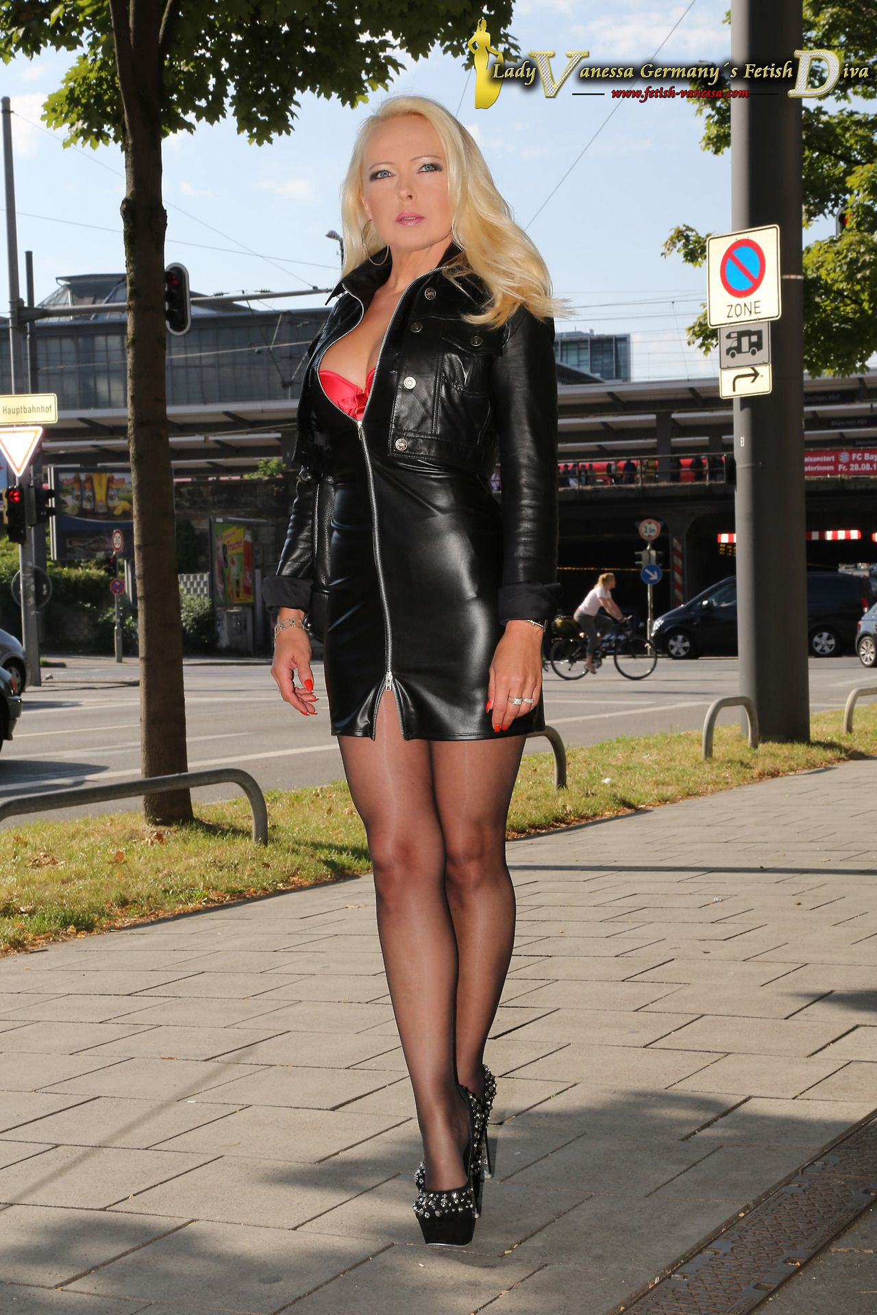 Demi Grace Black Leather