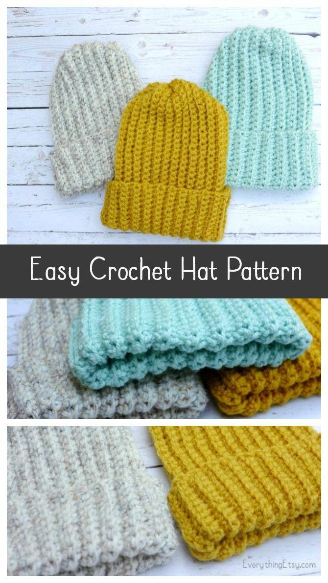 Easy Crochet Hat–Free Pattern   Best of Pinterest   Pinterest   Hut ...