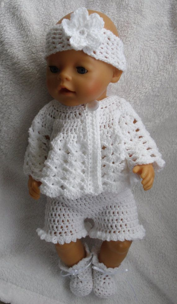 Crochet Pattern For 17 Inch Baby Doll Etsy Crochet Doll Clothes Free Pattern Baby Doll Clothes Patterns Baby Doll Clothes