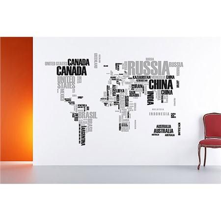 Awesome gift idea for a teen boy holidays 2013 textual world map awesome gift idea for a teen boy holidays 2013 textual world map peel and stick wall gumiabroncs Choice Image