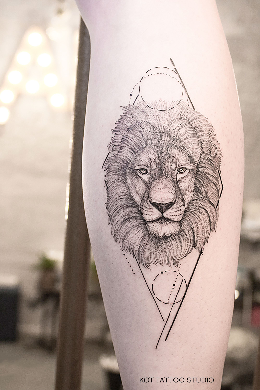 тату лев отличная идея тату тату лев мужские для тех кто любит