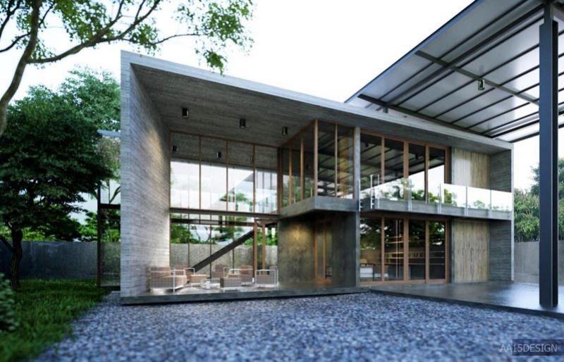 Loft Style Home home office | loft style | location bangkok | 2 storey house