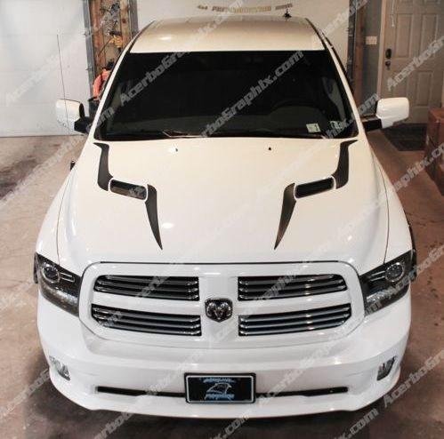 2015 Dodge Ram 1500 Sport Hood Decal Acerbographix Dodge