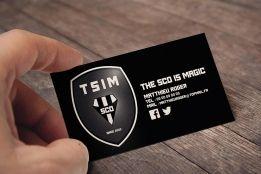 Carte De Visite Ralise Pour Le Site Dinformations Et Dactualits Lquipe Football Du SCO DAngers TSIM Facebook Pages The Is Magic