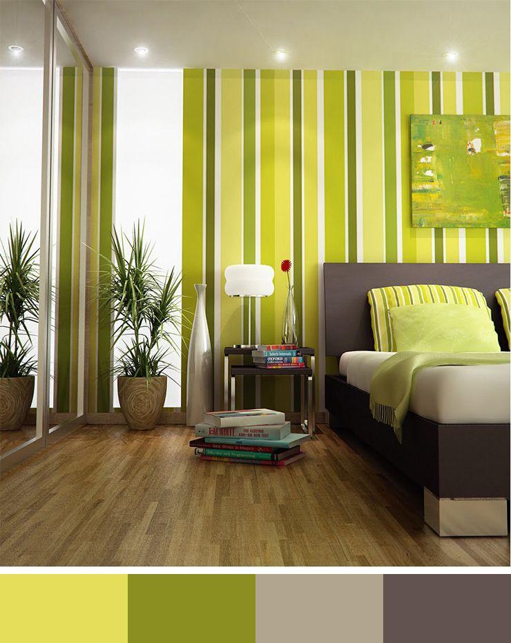 The Significance Of Color In Design 30 Interior Design Color Scheme Ideas Here To Inspire You Green Bedroom Design Striped Walls Interior Design Color Schemes