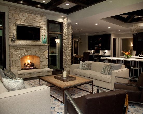 Simple With Dark And Light Contrast Contemporary Living Room