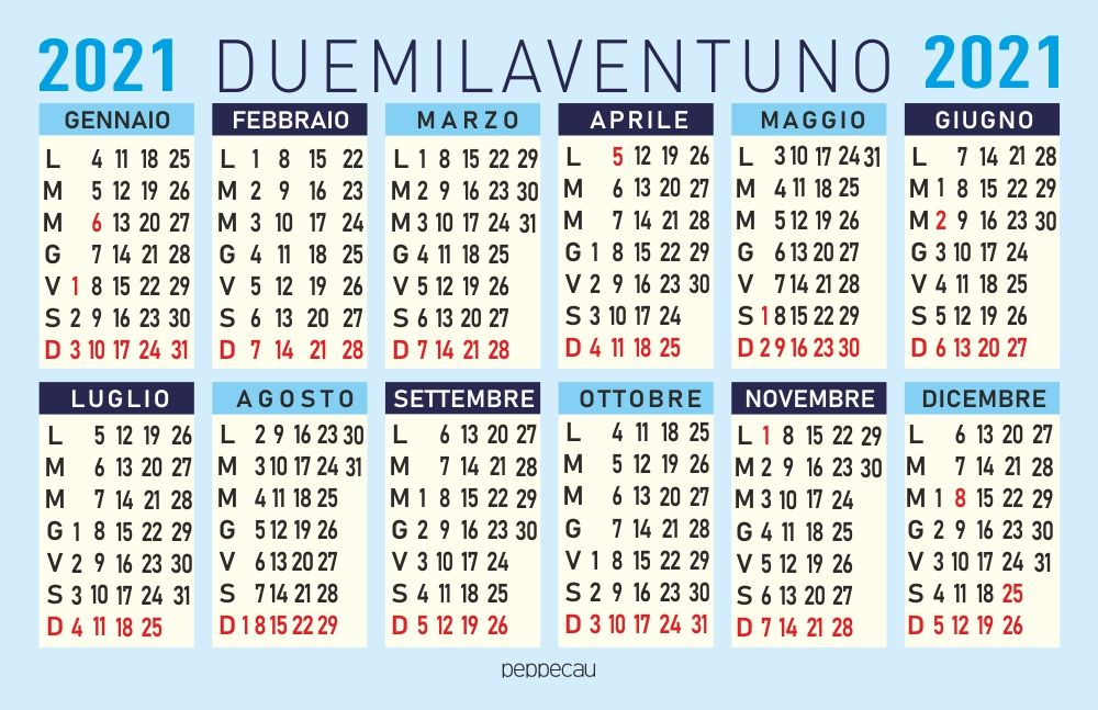 Calendario 2021 | Calendario