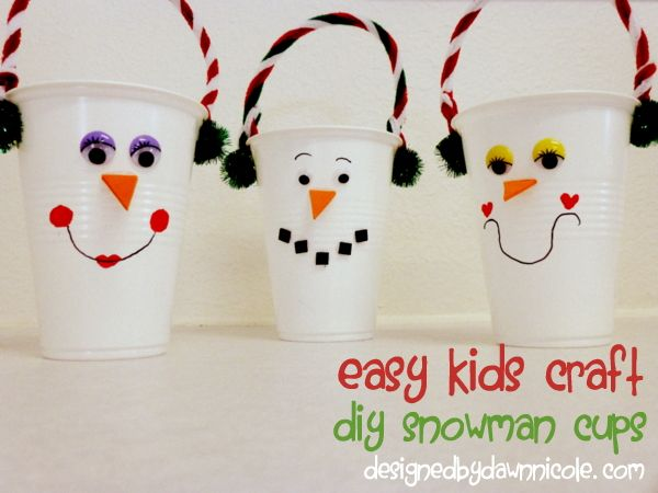 Superb Easy Kidsu0027 Craft: DIY Snowman Cups. Great For Kidsu0027 School Holiday Parties Gallery
